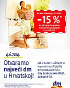 DM City Center one West -15% za otvorenje