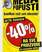 Baumax popust 40% na sve!