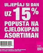 Bipa kupon -15% popusta
