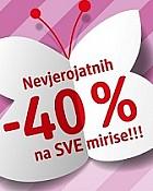 DM vikend akcija -40% na sve mirise