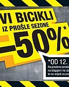 Hervis vikend akcija  -50% bicikli