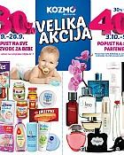 Kozmo vikend akcija -30% sve za bebe -40% parfemi