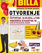 Billa katalog Horvaćanska otvorenje