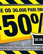 Hervis akcija -50% popusta na obuću