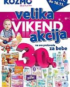 Kozmo vikend akcija -30% na proizvode za bebe!