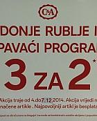C&A akcija 3 za 2 na donje rublje i spavaći program