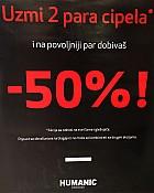Humanic popust -50% na drugi par