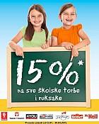Muller -15% popusta na školske torbe i ruksake