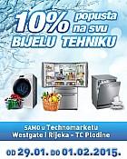 Technomarket akcija -10% na bijelu tehniku