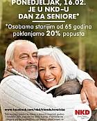 NKD akcija -20% za seniore