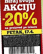 Konzum kupon -20% petak 17.4.