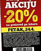 Konzum kupon -20% petak 24.4.