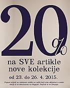Mana vikend akcija -20% na sve