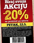 Konzum kupon -20% 22.5.