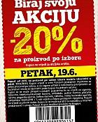 Konzum kupon -20% na proizvod po izboru