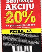 Konzum kupon -20% na jedan proizvod