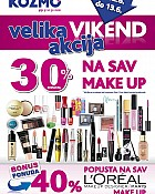 Kozmo vikend  -30% Make up