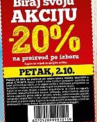 Konzum kupon -20% na proizvod po izboru 2.10.