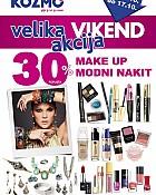 Kozmo vikend akcija-30% make up i nakit