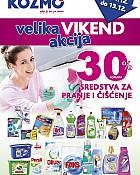 Kozmo vikend akcija -30% popusta čišćenje