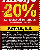 Konzum kupon -20% popusta biraj svoju akciju