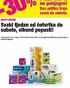 Bipa vikend akcija -30% popusta papirna konfekcija