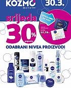 Kozmo srijeda -30% popusta na Nivea proizvode