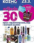 Kozmo srijeda -30% popusta na proizvode za njegu kose