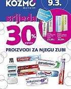 Kozmo srijeda -30% paste za zube, četkice