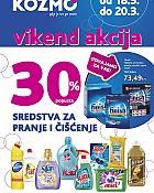 Kozmo vikend akcija -30% popusta čišćenje i pranje