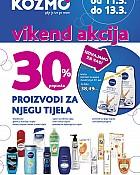 Kozmo vikend akcija -30% proizvodi za njegu tijela