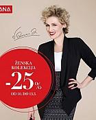 Mana akcija -25% popusta na žensku odjeću