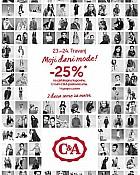 C&A akcija -25% popusta na sve travanj