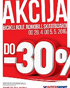 Intersport akcija bicikli, role, romobili, skateboardi