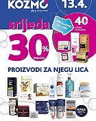 Kozmo srijeda -30% popusta na proizvode za njegu lica