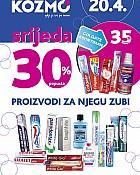 Kozmo srijeda -30% popusta njega zubi travanj 2016