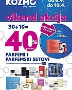 Kozmo vikend akcija do -40% na parfeme