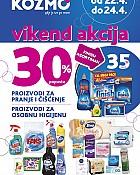 Kozmo vikend akcija -30% popusta proizvodi za čišćenje