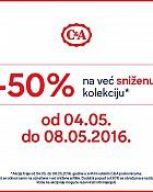 C&A akcija -50% popusta na sniženu kolekciju