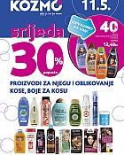 Kozmo srijeda -30% popusta proizvodi za kosu