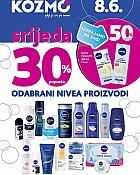 Kozmo srijeda -30% popusta odabrani Nivea proizvodi