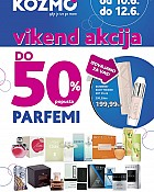 Kozmo vikend akcija parfemi do -50%