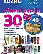 Kozmo vikend akcija -30% šamponi, boje za kosu
