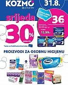 Kozmo srijeda -30% popusta na osobnu higijenu