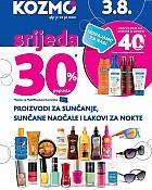 Kozmo srijeda -30% popusta proizvodi za sunčanje