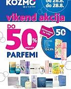 Kozmo vikend akcija do -50% popusta na parfeme