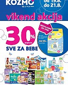 Kozmo vikend akcija -30% sve za bebe do 21.8.