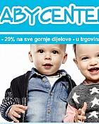 Baby Center vikend akcija -20% gornji dijelovi odjeće