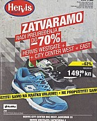 Hervis katalog Zatvaranje West Gate i City Center