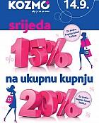 Kozmo srijeda -20% popusta na ukupnu kupnju